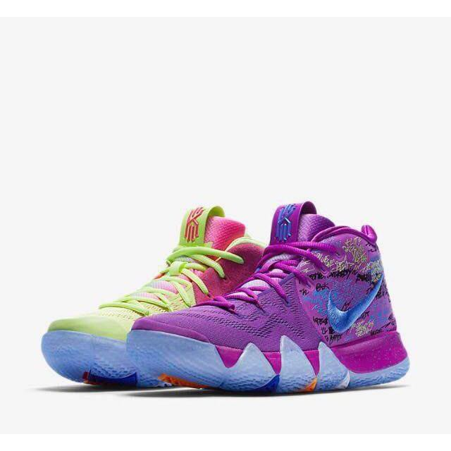 temperament shoes various styles footwear 100% Original Nike Kyrie Irving 4 Confetti Basketball Shoes ...