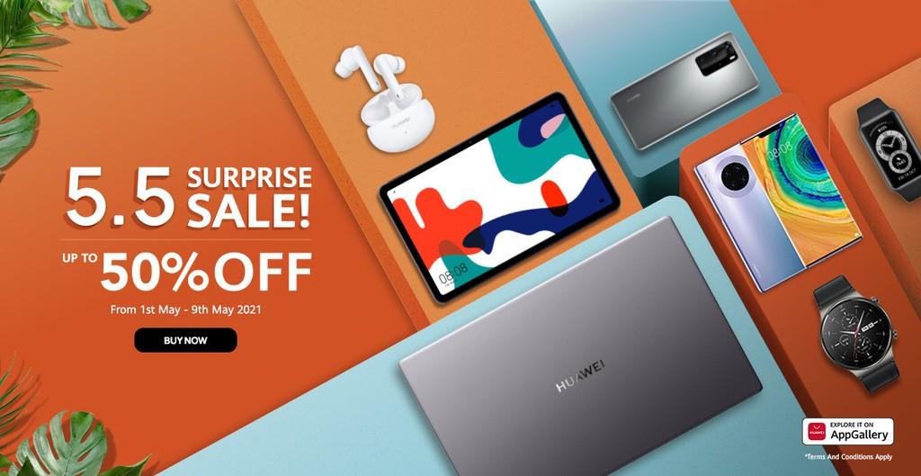 Huawei Philippines 20% off + P1000 shop voucher