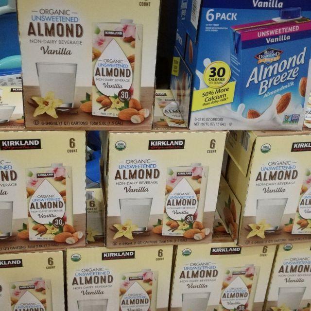 Kirkland Organic Unsweetend Almond Milk Vanilla