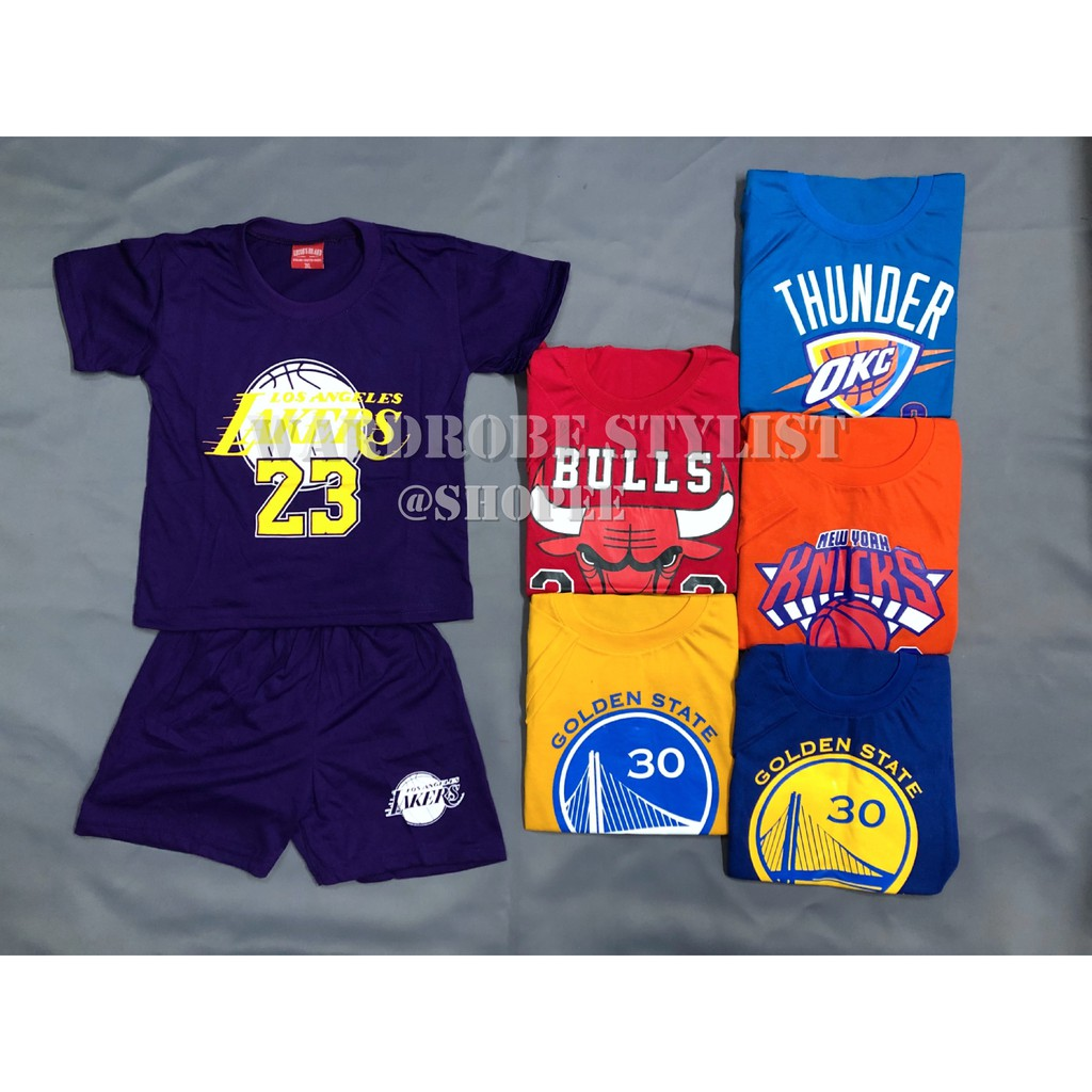 NBA Set Terno Wear for Boys Musclesleeve and Tshirt style
