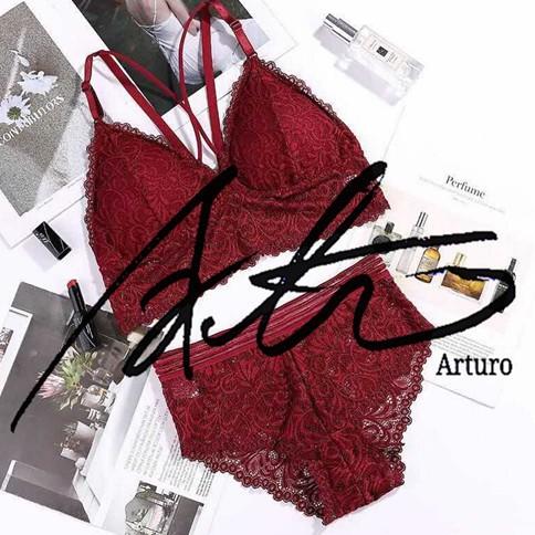 ✅Arturo Underwear Lace Bra+Panty Set Size Lingerie Suit