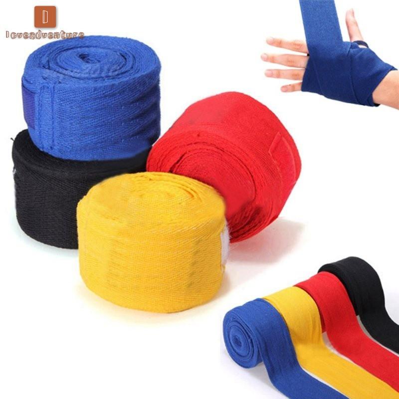 Boxing Hand Wraps Punch training Gym Straps Quick Wraps Cotton Pair Bandage Tape