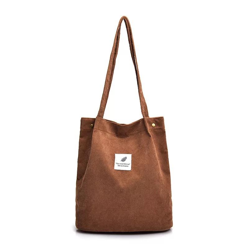 9f478419e3df Mumu Corduroy Canvas Korean Tote Bag #3028
