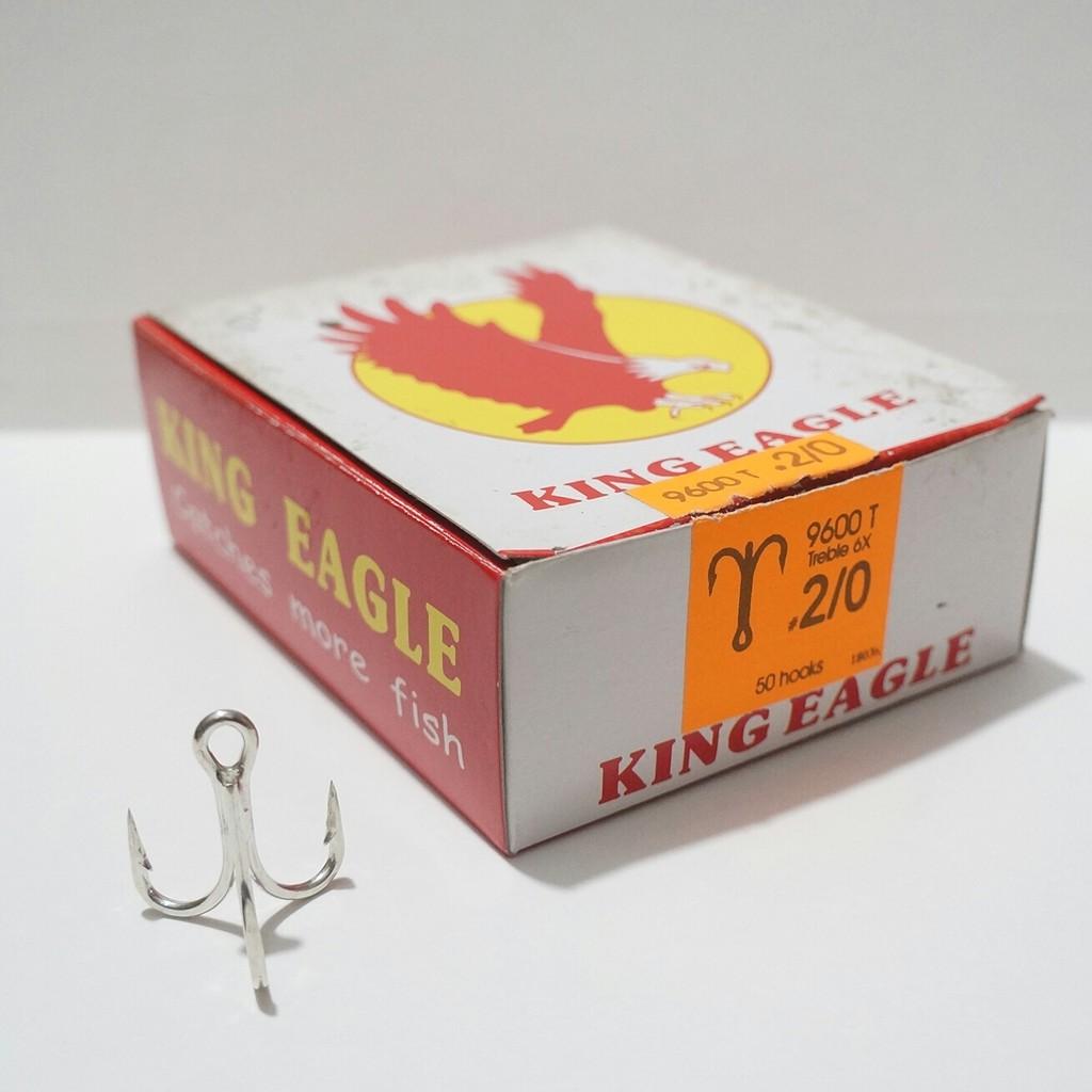 2a 10 TREBLE FISH HOOK Eagle Claw TIN sz 8