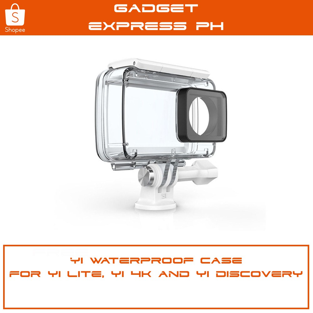 Yi Discovery Action Camera Ip68 40m Waterproof Case Shopee Xiaomi 4k Philippines