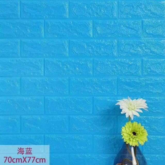 Foam Bricks Wallpaper Color Blue