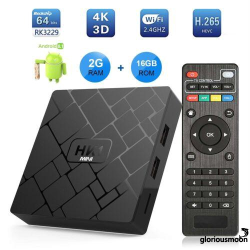 G L-Smart Android 8 1 TV Box RK3229 Quad Core 4K H 265 | Shopee