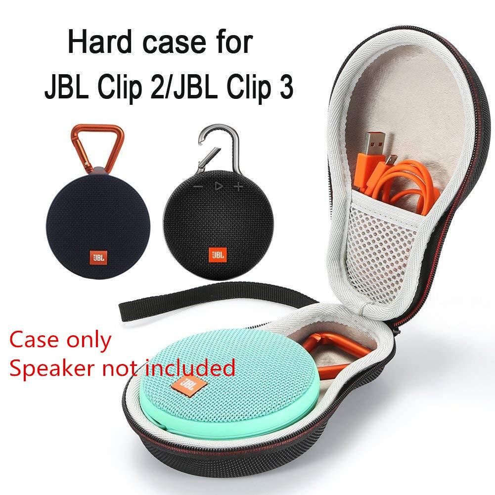 EVA Hard Travel Carrying Case for JBL Clip 2 or JBL Clip 3 Waterproof Portab...