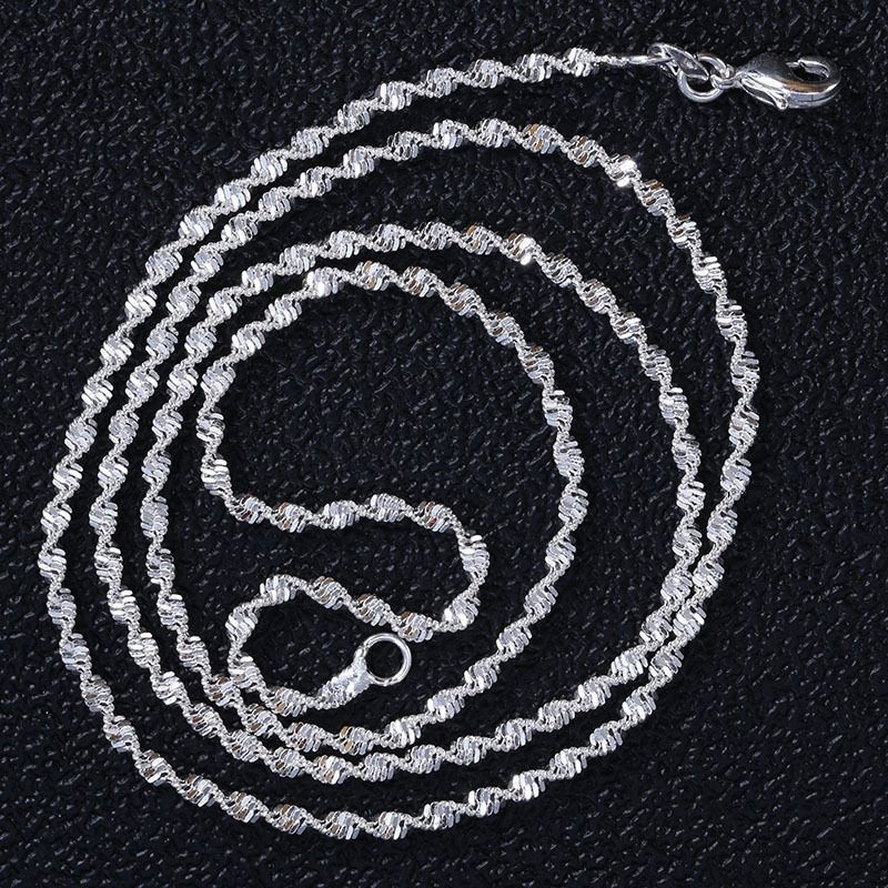 Vintage Style Women Silver Natural Ruby Drop Pendant Necklace Chain Jewelry