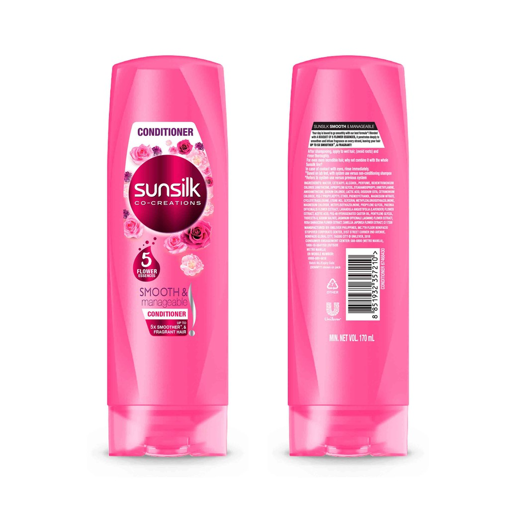 Sunsilk Hair Conditioner Smooth And Manageable 170 ml   Shopee
