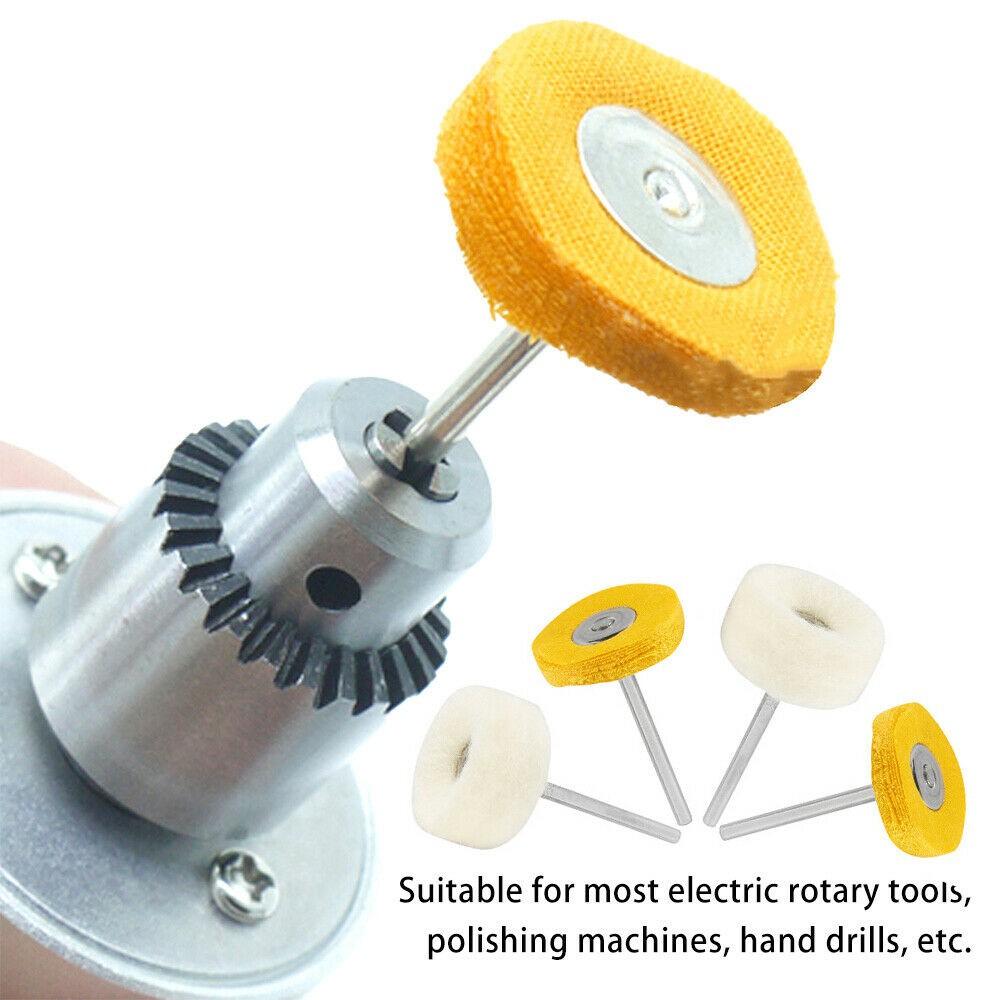 20x Polishing Mop Buffing Wheel Polish Pad Polishers For Rotary Drill Bit Tools