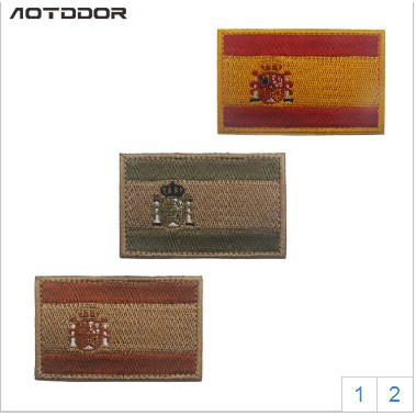 Patches 3D embroidery cloth armband Spain flag sticker flags Army Morale  Tactical military badges