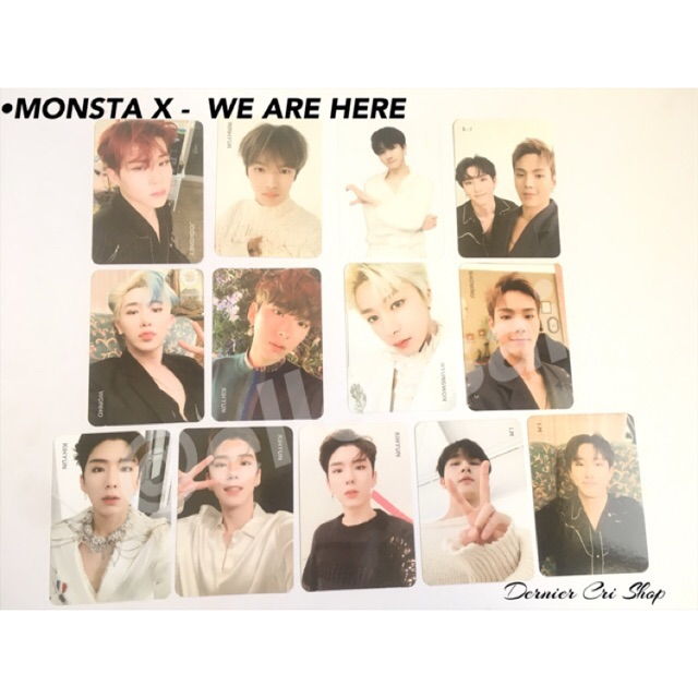 """Monsta x official photocard /""""Are You There?/"""""""
