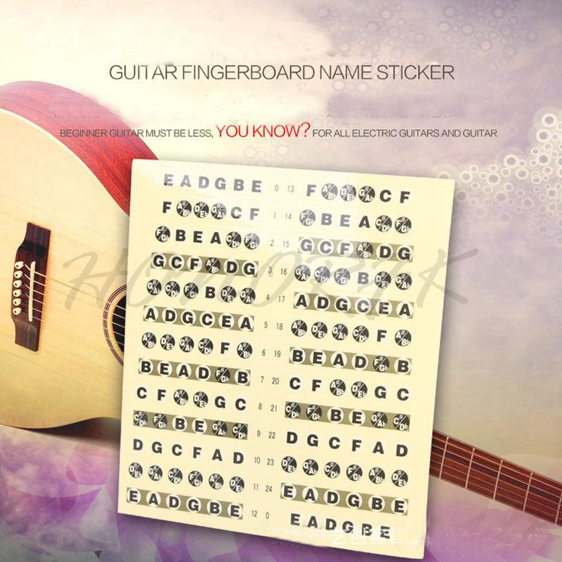 Musical Instruments Guitar Accessories Scale Sticker Neck Fingerboard Fret Board Note Learn Practice Excellent In Cushion Effect
