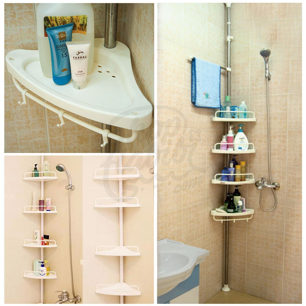 4 Layer Multi Corner Shelf Bathroom Rack Organizer Storage Shopee Philippines
