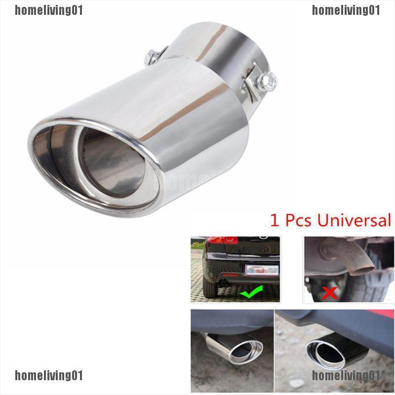 Durable Bent Stainless Steel Car Exhaust Dual Pipe Chrome Muffler Tip Tail Pipes