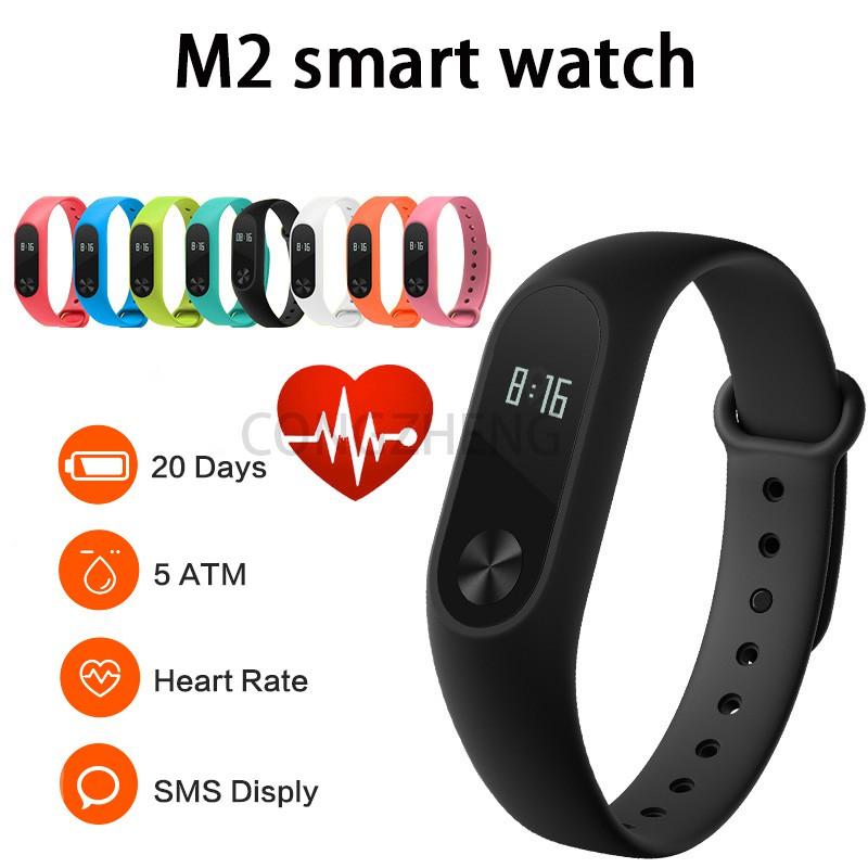 M2 Band Smart Fitness Wristband Waterproof Watch Heart