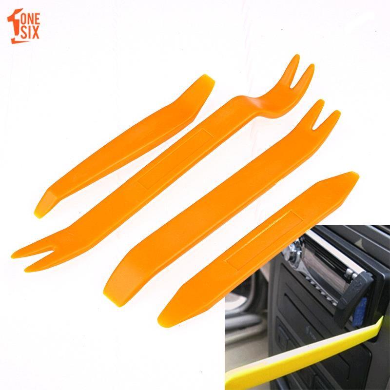 ONS 4Pcs Car Audio Plastic Trim Panel Dash Removal Pry Repair Tools Kit  Universal