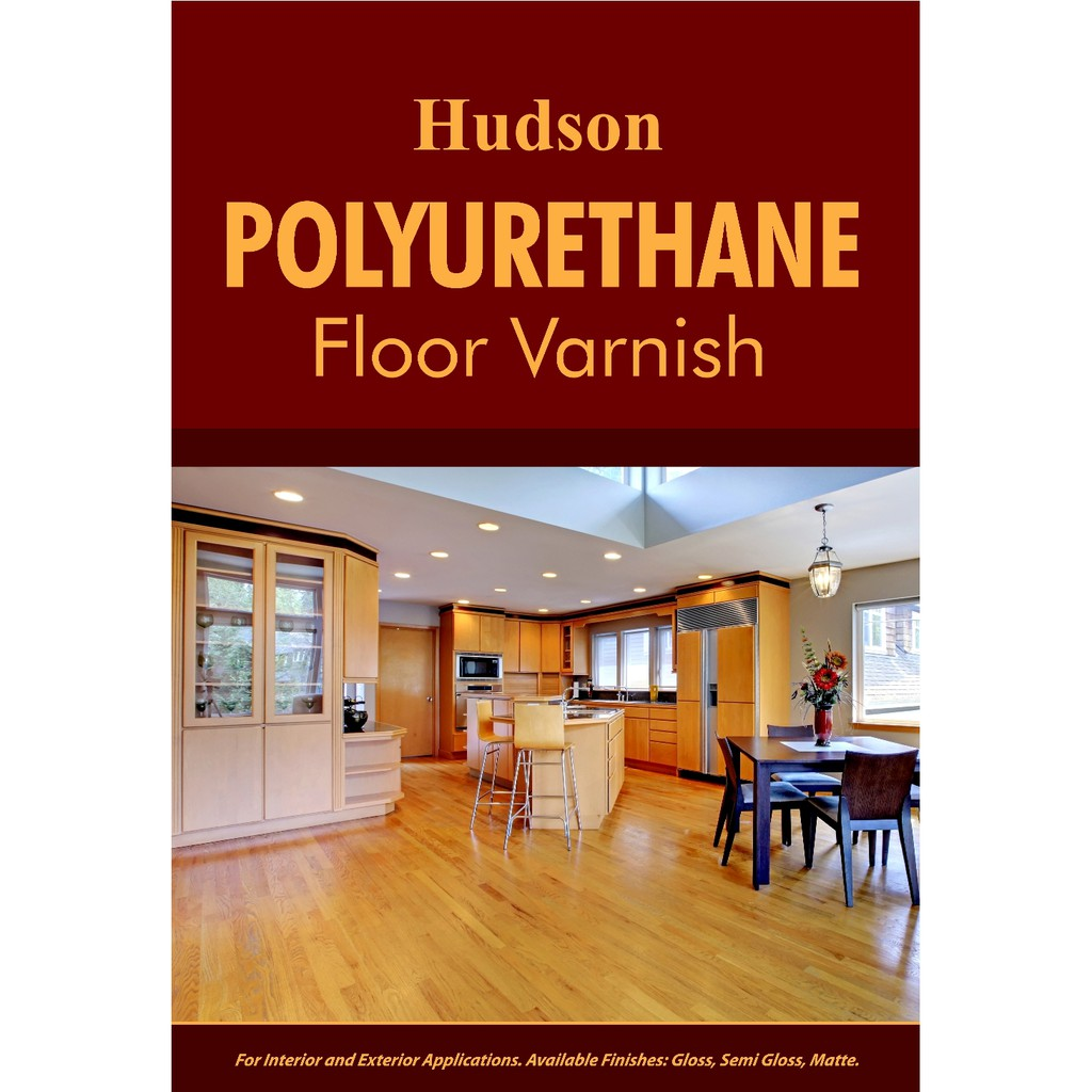 Hudson Polyurethane Floor Varnish Topcoat 1 Liter