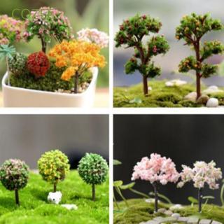 1Pc 1:12 Dollhouse Miniature Garden Ornament Green Plant Flower Garden Access AR