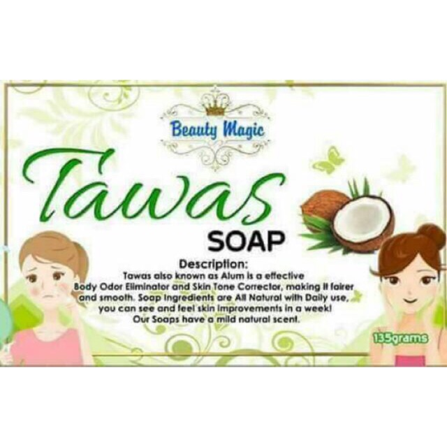 New packaging Beauty Magic Tawas Soap Whitening Soap 135g
