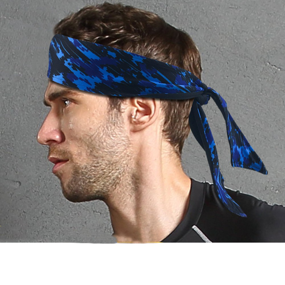 TIE BACK HEADBANDS UPICK 1 Sweatband Moisure Wicking Head Sweat Band Headband