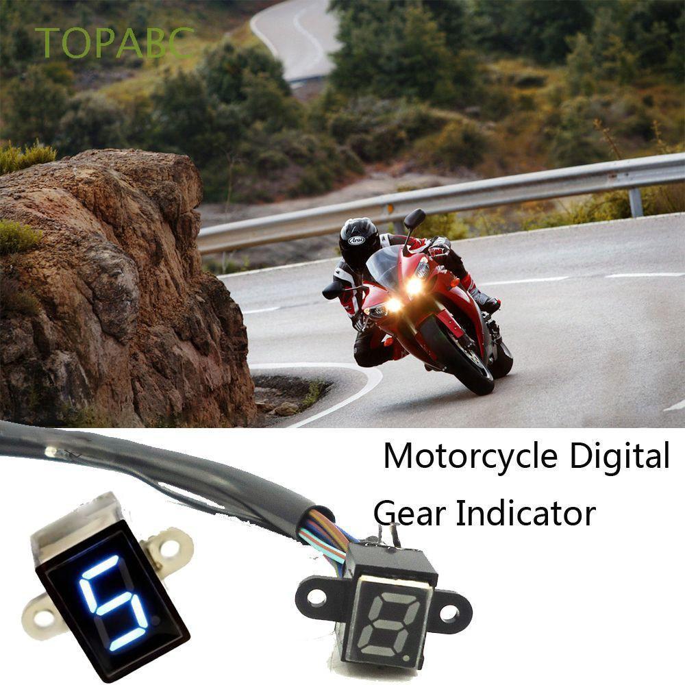 Motorcycle Gauge Shift Lever Digital Gear Indicator Lever Sensor LED Display