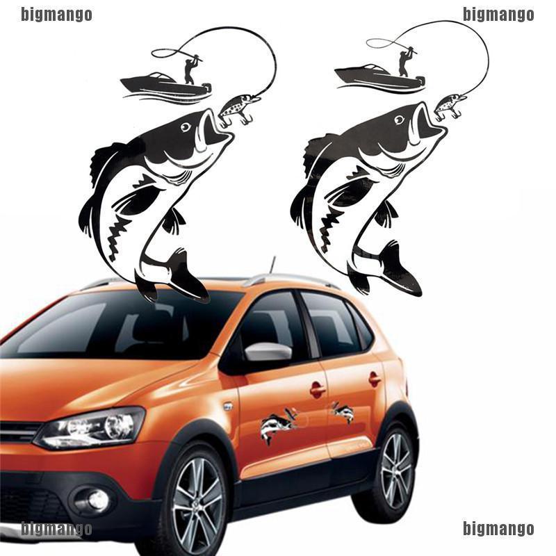 1Pcs Fishing Fisherman Car Cartoon Vinyl Decals Auto Decorative Stickers Decal