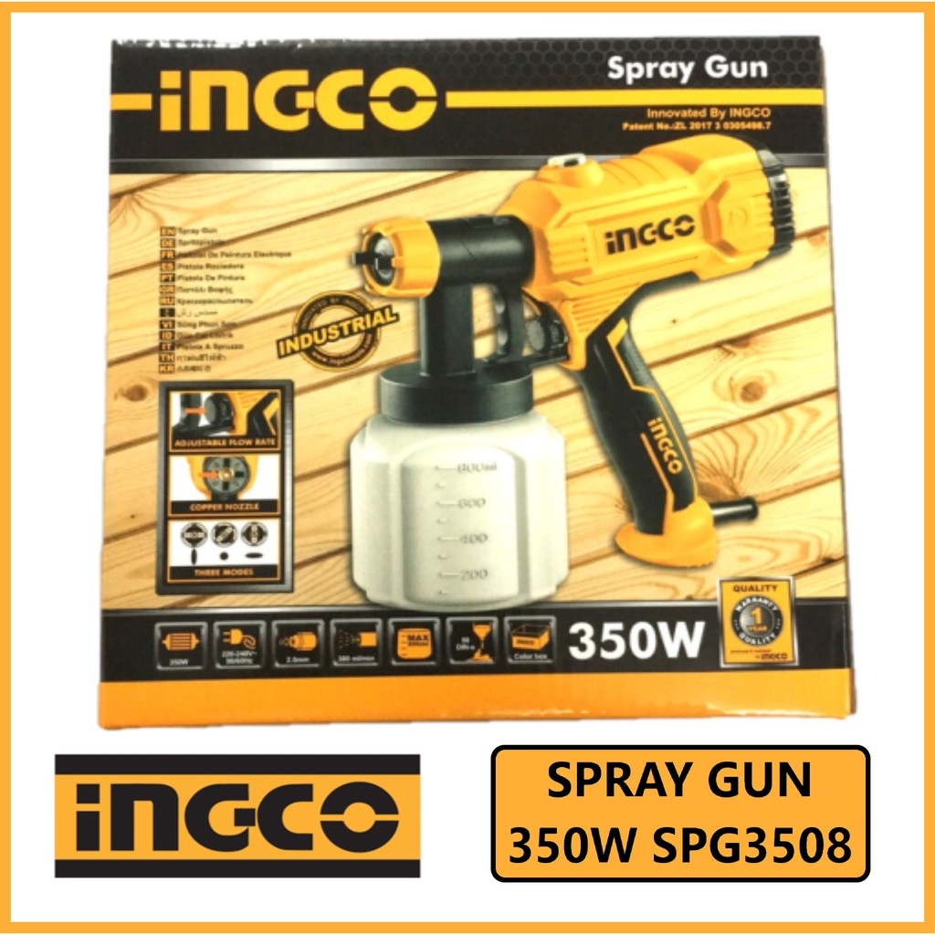 Ingco Spray Gun Electric Industrial 350w Spg3508 Original See