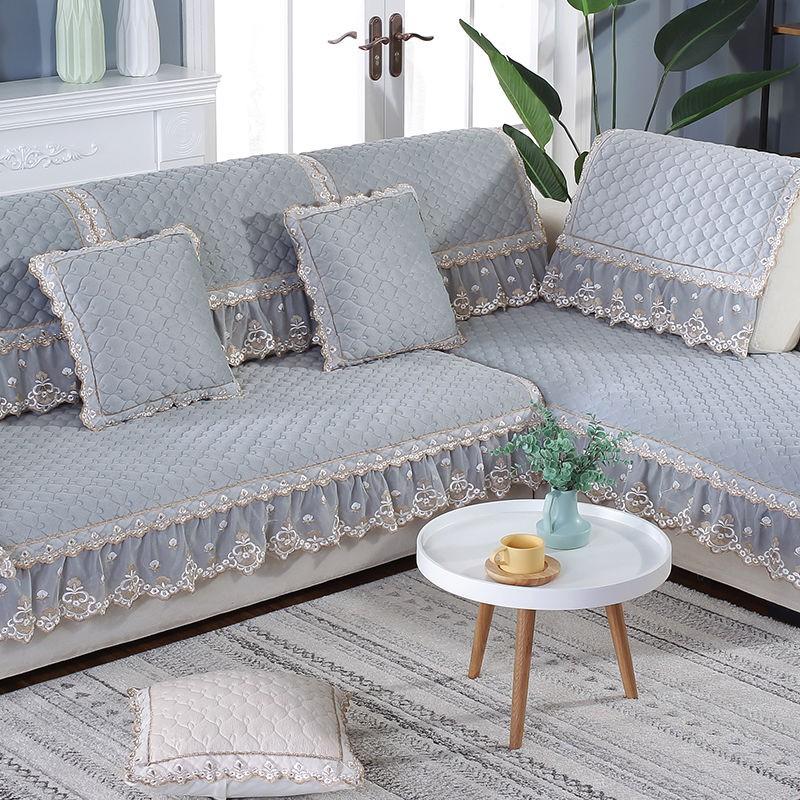 Plush Sofa Winter Anti Slip Thick
