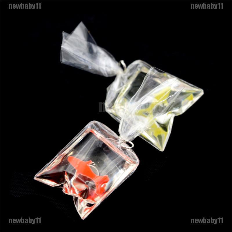 1:12 Dollhouse Miniature Transparent Bag Goldfish Doll Pet Toy Decor P Jw