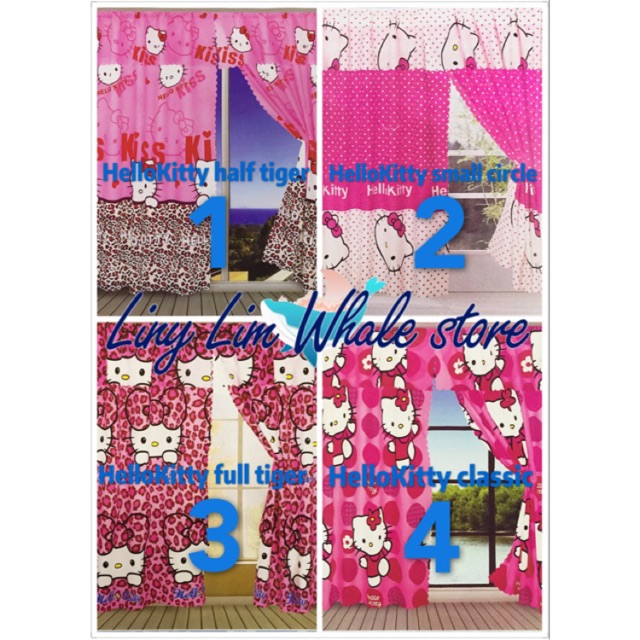 Character Curtain HelloKitty Curtain Size 51x72