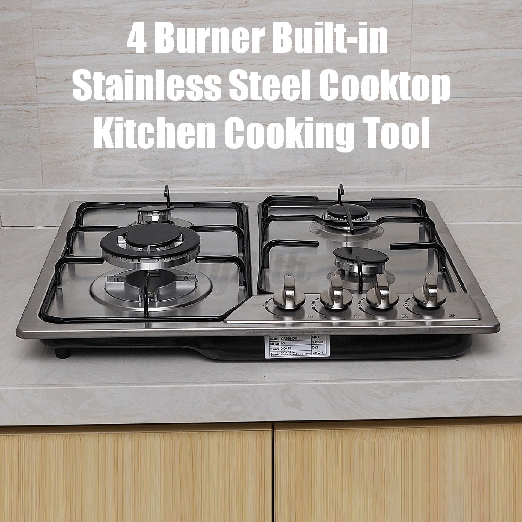 July 4 Burner Built In Cooktop Stainless Steel Gas Stoves Kitchen Natural Gas Hob Shopee Philippines