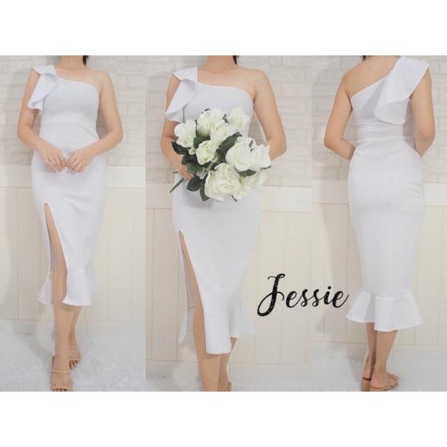 COD White Dress For Civil Wedding/Baptismal/Formal/Casual