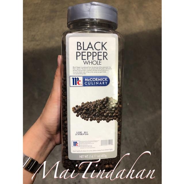 McCormick Black Pepper Whole 400g