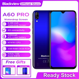 Blackview A60 RAM 1GB/ROM 16GB 6 1 Inch 4080mAh Smartphone Android