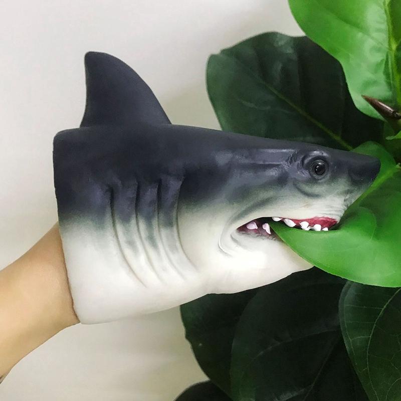 Head Shark Hand Puppet Soft Plastic Mouth Deformation Children/'s Toys Gift