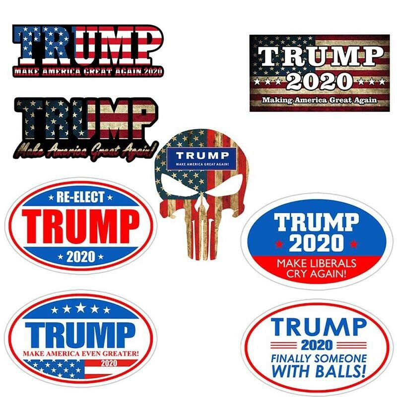 Bumper Style Sticker Decal  1 Set of 2pcs TRUMP PENCE  Make America Greater