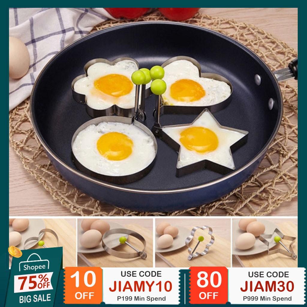 00903b1ac3f1 ✨jiamy✨Stainless Steel CookingTools Fried Egg Pancake Mould Shaper