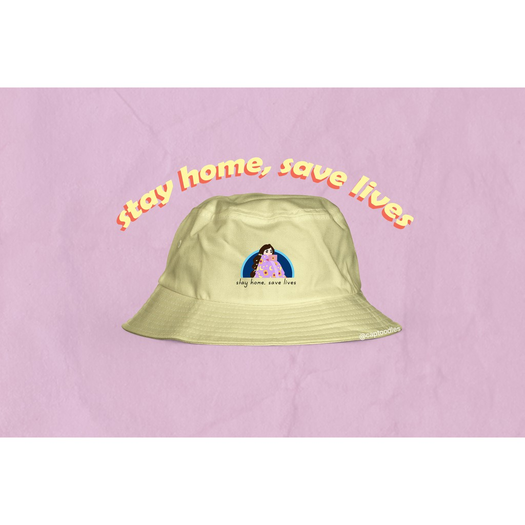 Y2k Reversible Aesthetic Bucket Hat In Pastel Purple Pastel Yellow Shopee Philippines