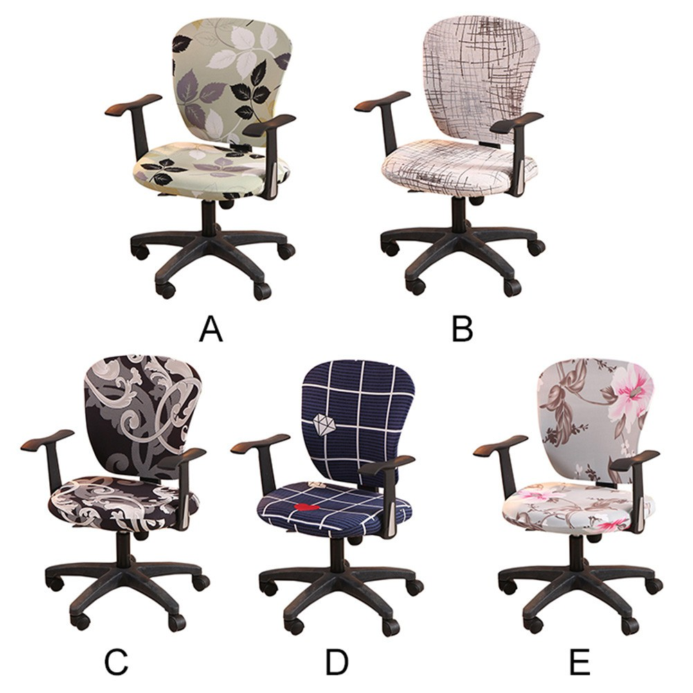 sneakers for cheap 3734e 80dc2 Floral computer chair cover Split computer office swivel chair cover