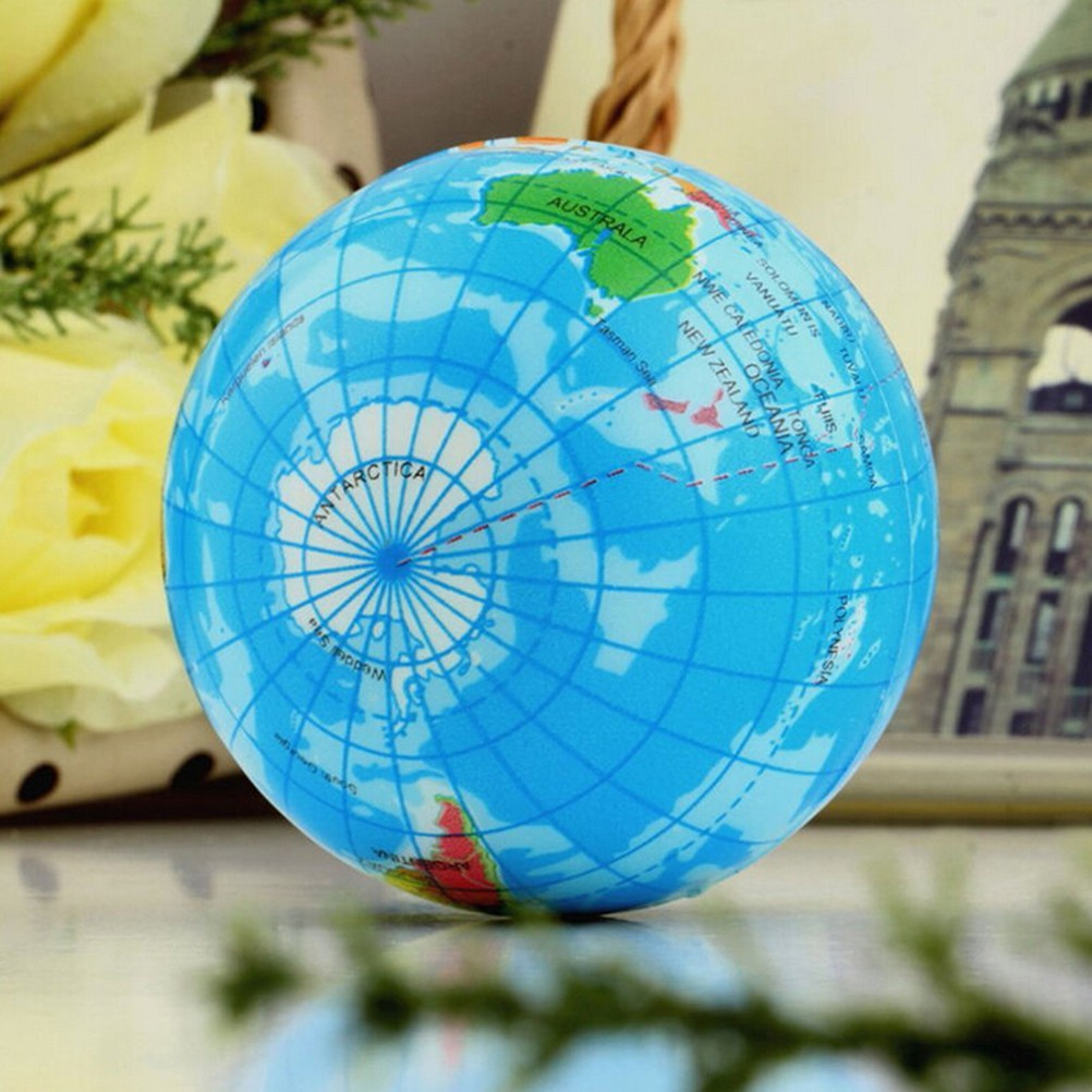 Beauty & Health New 1pc World Map Foam Earth Globe Hand Wrist Exercise Stress Relief Squeeze Soft Foam Ball Hot Sale Massage & Relaxation
