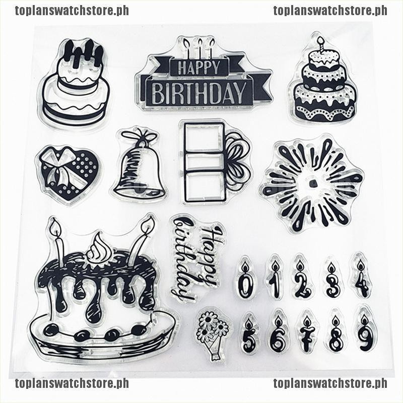 Cake DIY Transparent Clear Silicone Stamp Seal crapbooking Cute Decoration