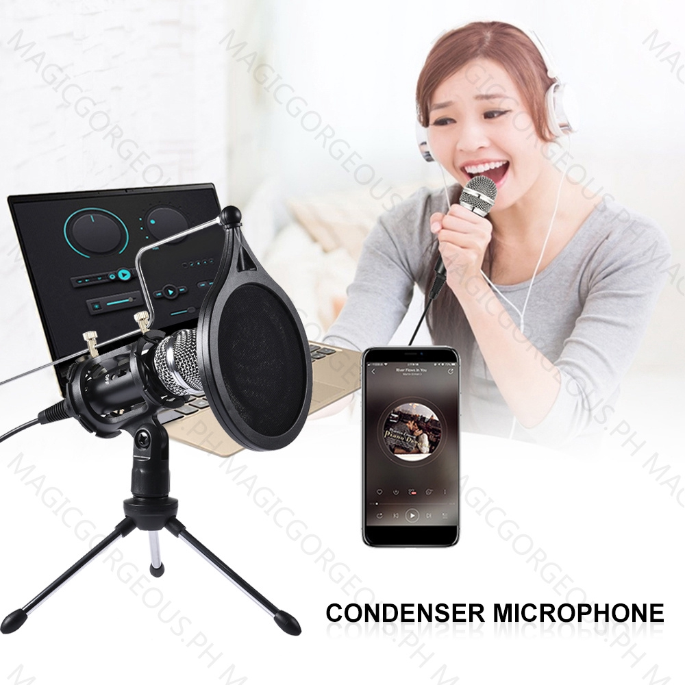 Recording Condenser Microphone Mobile Phone Microphone 3 5mm Jack Microphone For Laptop Computer Pc Mic For Iphone Android Huawei Xiaomi Condenser Microphone Shopee Philippines