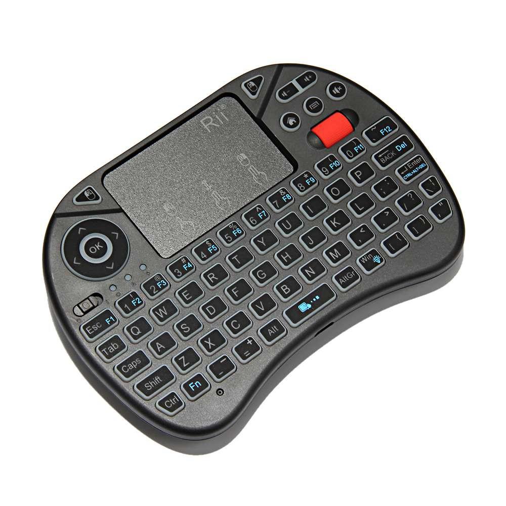 22e26bb7d4c Rii i8X White Backlight 2.4G Mini Wireless QWERTY Keyboard Touchpad |  Shopee Philippines