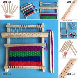 Wallrell Wooden Weaving Loom Craft Yarn Diy Hand Knitting Machine Kids Educational Toys