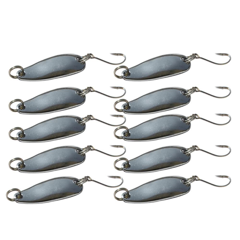 4pcs Metal Fishing Lures Bass CrankBait Spoon Crank Bait Tackle Fishing Hard CA