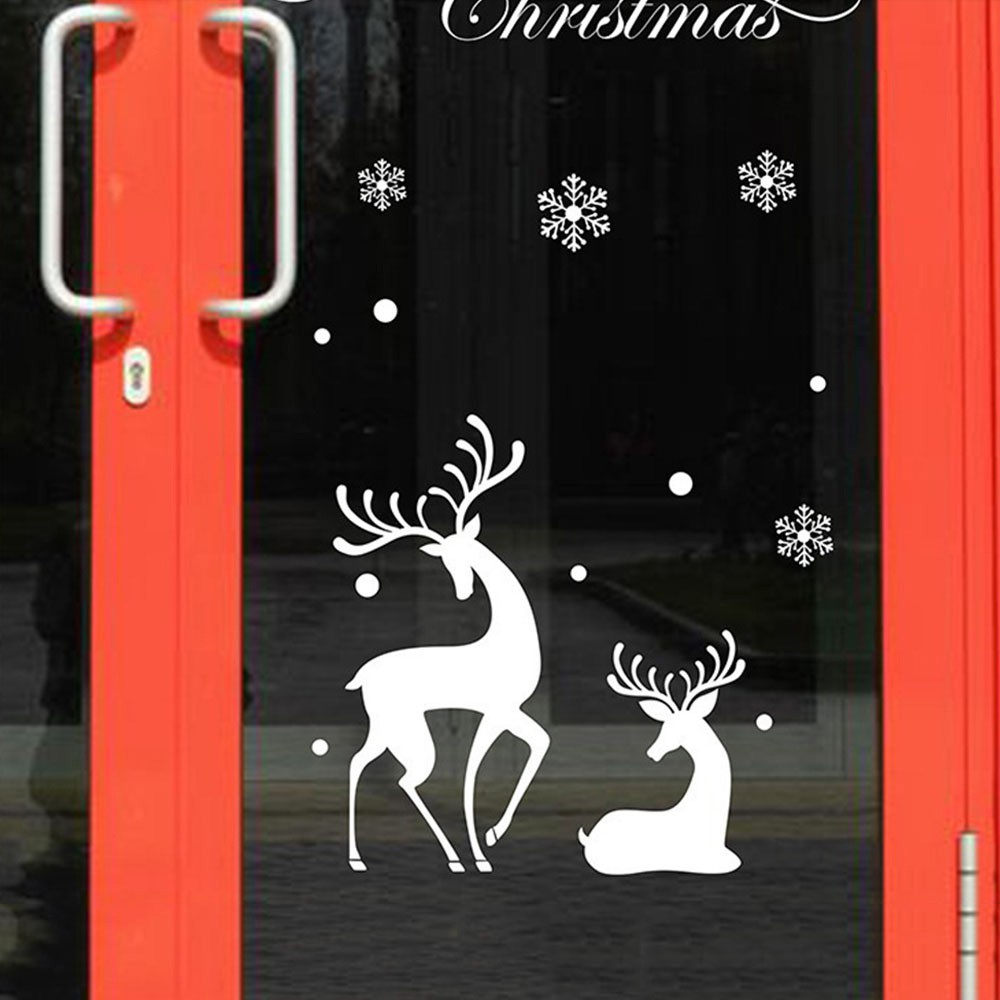 Static Cling DEER Vinyl Window Decoration Decal WindowSticker 10x15cm