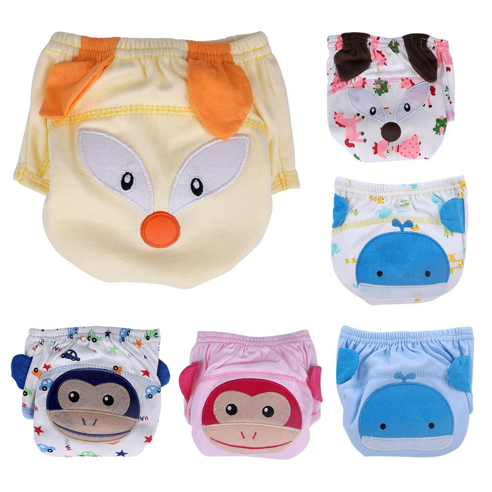 Baby Training Pants Pure Cotton Washable Toddle Reusable Underwear Adorable and Cute cat Fox Cartoon Pack of 2