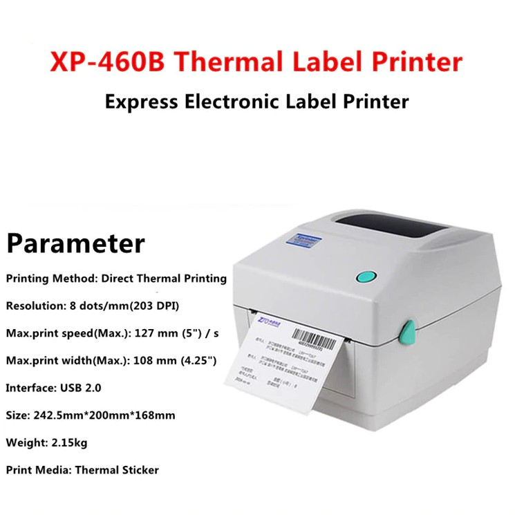 Xprinter XP-460B Thermal Barcode Printer Label/Express Invoice Printer  lazada/ninjavan Label Printer